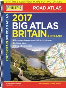 Philip's Big Road Atlas Britain and Ireland 2017, Spiral bound Book