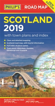 Philip's Scotland Road Map, Paperback Book