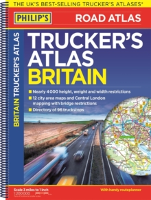 Philip's 2018 Trucker's Atlas Britain, Spiral bound Book
