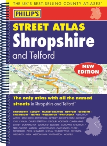 Philip's Street Atlas Shropshire and Telford, Spiral bound Book