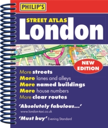 Philip's Street Atlas London - new spiral-bound edition : Mini Spiral Edition, Spiral bound Book
