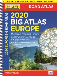 2020 Philip's Big Road Atlas Europe : (A3 Spiral binding), Paperback / softback Book