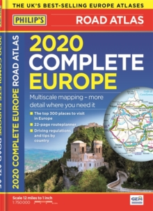 Philip's Complete Road Atlas Europe 2020 A4 : (A4 with practical 'flexi' cover), Paperback / softback Book