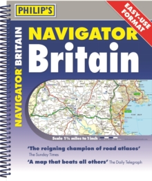 Philip's 2020 Navigator Britain Easy Use Format, Spiral bound Book