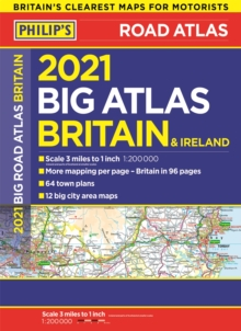 2021 Philip's Big Road Atlas Britain and Ireland : (A3 Paperback), Paperback / softback Book