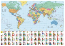 Philip's RGS World Wall Map (with Flags) : Paper, Sheet map Book