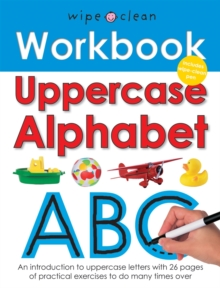 Wipe Clean Work Books : Uppercase Alphabet, Spiral bound Book