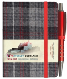 Castle Grey Tartan: Mini with Pen: 10.5 x 7.5cm: Scottish Traditions: Waverley Genuine Tartan Cloth Commonplace Notebook, Hardback Book
