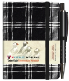Black and White Tartan: Mini with Pen: Scottish Traditions: Waverley Genuine Tartan Cloth Commonplace Notebook, Hardback Book