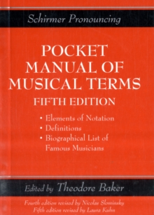 Schirmer's Handy Book of Musical Terms and Phrases, Paperback Book