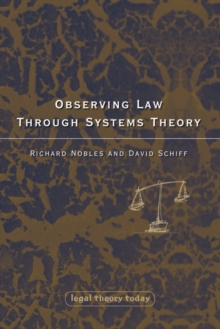 Observing Law through Systems Theory, Paperback / softback Book