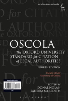 OSCOLA : The Oxford University Standard for Citation of Legal Authorities, Paperback / softback Book