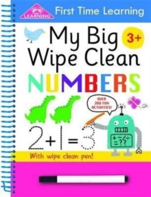 First Time Learning Wipe Clean- Numbers, Spiral bound Book