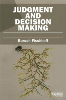 Judgment and Decision Making, Paperback Book