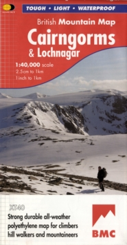 Cairngorms and Lochnagar, Sheet map, folded Book