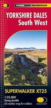 Yorkshire Dales South West XT25, Sheet map, folded Book