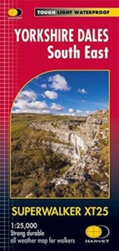 Yorkshire Dales South East XT25, Sheet map, folded Book