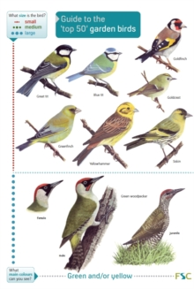 Guide to the Top 50 Garden Birds, Fold-out book or chart Book