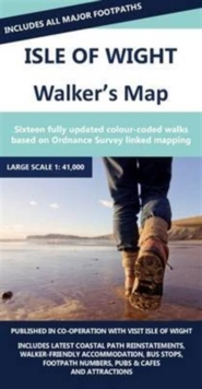 Isle of Wight Walkers Map, Sheet map, folded Book