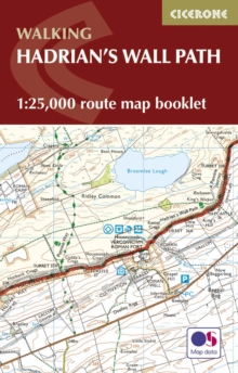Hadrian's Wall Path Map Booklet : 1:25,000 OS Route Mapping, Paperback Book