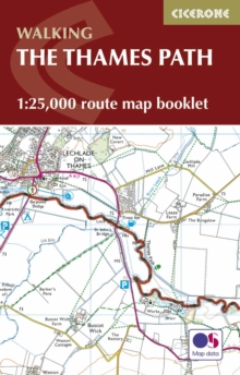 The Thames Path Map Booklet : 1:25,000 OS Route Map Booklet, Paperback Book