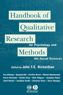 Handbook of Qualitative Research Methods for Psychology and the Social Sciences, Paperback / softback Book