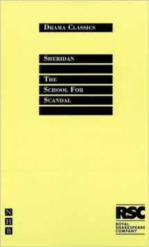 The School for Scandal, Paperback Book