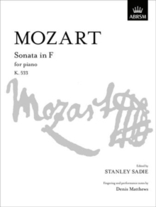 Sonata in F : K. 533, Sheet music Book