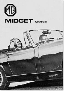 Mg Owners' Handbook: Mg Midget Mk 3 : Part No. Akd7596, Paperback / softback Book
