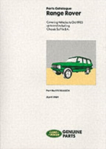 Range Rover 1970-85 Parts Catalogue, Paperback Book