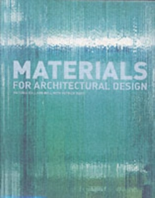 Materials for Architectural Design, Paperback / softback Book