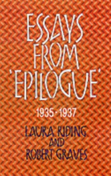 "Essays from ""Epilogue"", 1935-1937, Paperback / softback Book"