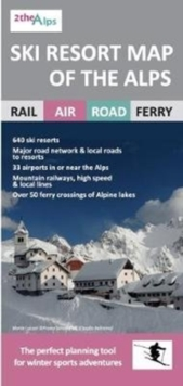 Ski Resort Map of the Alps, Sheet map, folded Book