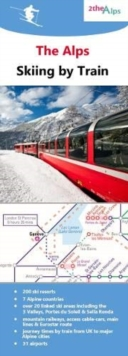 The Alps - Skiing by Train, Sheet map, folded Book