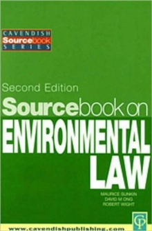 Sourcebook on Environmental Law, Paperback / softback Book