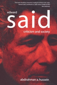 Edward Said : Criticism and Society, Paperback / softback Book