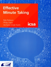 Effective Minute Taking, Paperback Book