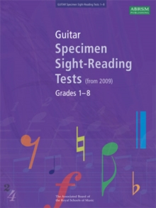 Guitar Specimen Sight-Reading Tests, Grades 1-8, Sheet music Book