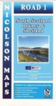 Road 1 North Scotland : Orkney & Shetland, Sheet map, folded Book