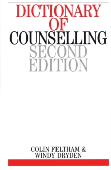 Dictionary of Counselling, Paperback Book