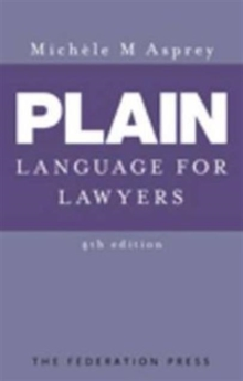 Plain Language for Lawyers, Paperback / softback Book