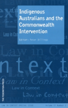 Indigenous Australians and the Commonwealth Intervention, Paperback Book