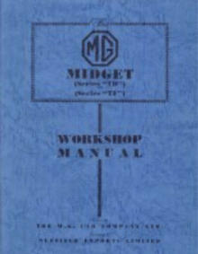 MG Midget TD & TF Workshop Manual, Paperback Book