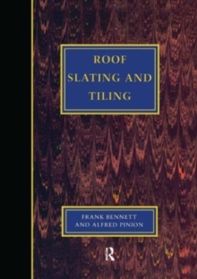 Roof Slating and Tiling, Hardback Book