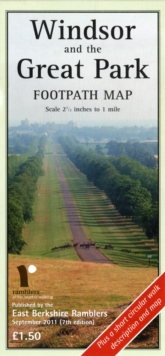 WINDSOR GREAT PARK FOOTPATH MAP, Sheet map Book