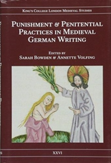 Punishment and Penitential Practices in Medieval German Writing, Hardback Book