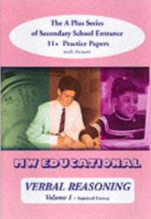 Verbal Reasoning : The A-plus Series of Secondary School Entrance 11+ Practice Papers with Answers v. 1, Paperback Book