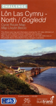 Lon Las Cymru North - Sustrans Cycle Route Map - NN8B : The Official Route Map and Information Covering the 137 Miles (220.5km) of the National Cycle Network Between Holyhead and Llanidloes, Sheet map, folded Book