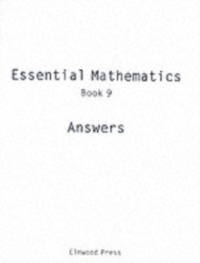 Essential Mathematics : Answers Book 9, Paperback Book
