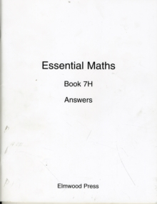 Essential Maths : Answers Bk. 7H, Paperback Book